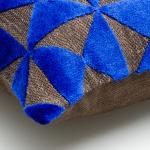 sierkussen blauw velours