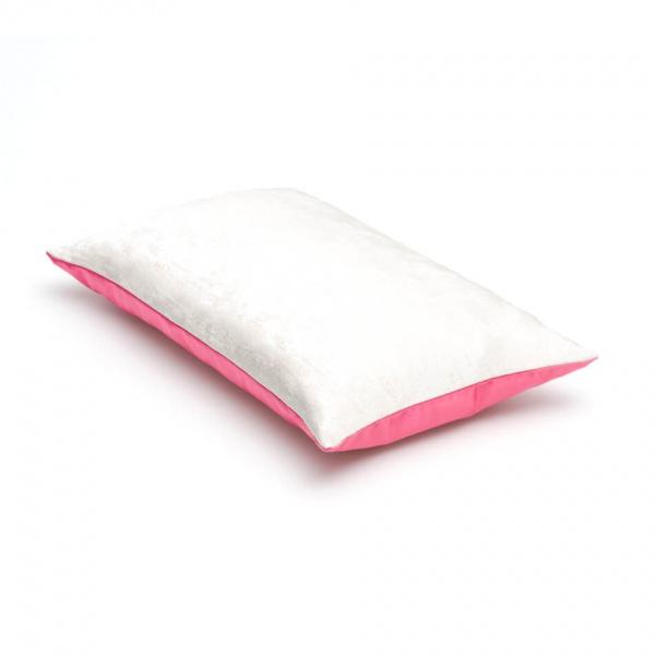 sierkussen roze met wit