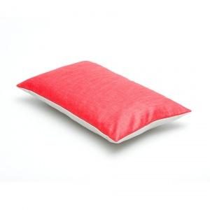 sierkussen rood - grijs