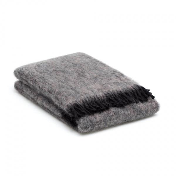 plaid grijs met zwart mohair