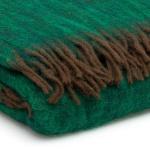 mohair deken groen