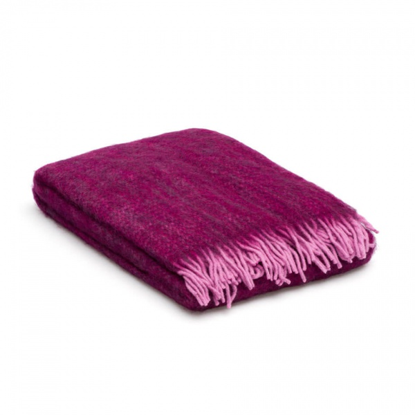 Plaid mohair lila - paars - luxe