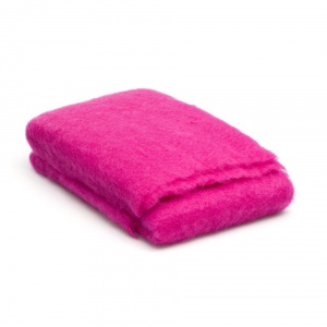 Plaid fel roze mohair
