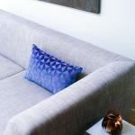 Sierkussen Blauw - Bruin