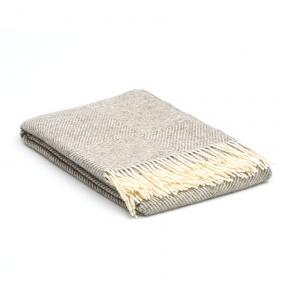 plaid wol grijs 140 x 240