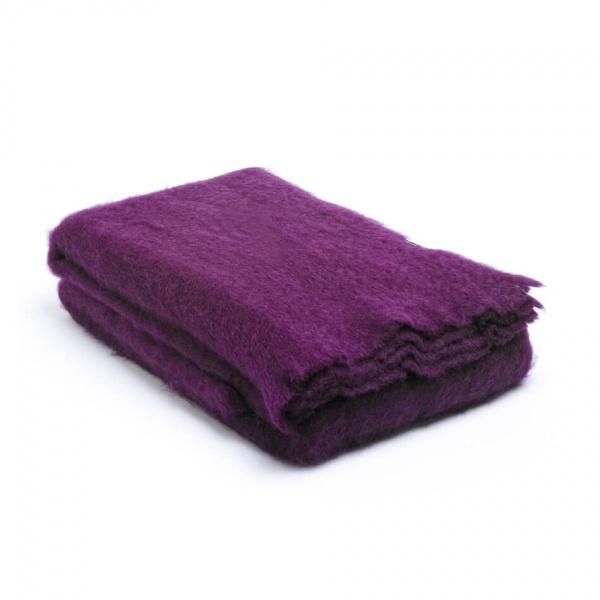 plaid paars mohair - luxe