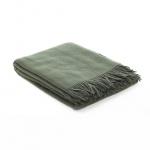 plaid donkergroen wol
